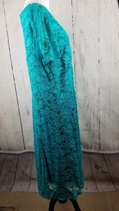 Roaman's Dresses - Roamans Blue Lace Evening Dress Plus Size 14W